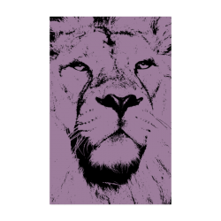 "LION POSTER X Poster 22""x34"""