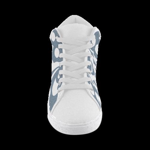SKULL W - Men Men's Chukka Canvas Shoes (Model 003)