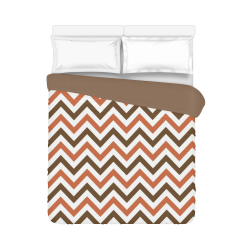 "Autumn Joy Chevron - Brown Duvet Cover 86""x70"" ( All-over-print)"