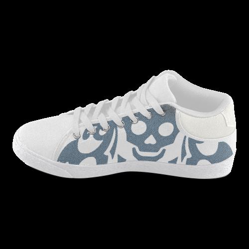 SKULL W Women's Chukka Canvas Shoes (Model 003)