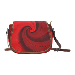 Red Rose Dragon Scales Spiral Saddle Bag/Large (Model 1649)