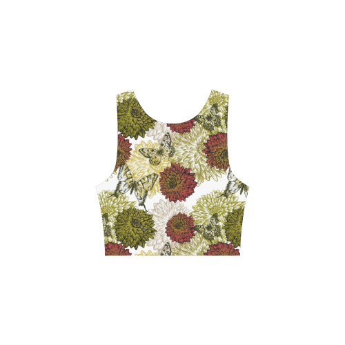 Fall Earth Tone Floral Atalanta Sundress (Model D04)