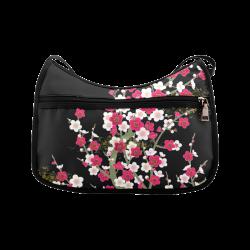 Pink White Sakura Floral Crossbody Bags (Model 1616)