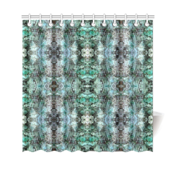 "Green Black Gothic Pattern Shower Curtain 69""x70"""
