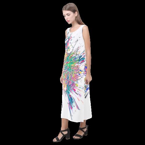 Color Big Bang by Artdream Phaedra Sleeveless Open Fork Long Dress (Model D08)
