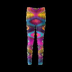 WAVES DISTORTION chevrons multicolored Cassandra Women's Leggings (Model L01)