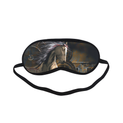 Steampunk, awesome horse with clocks and gears Sleeping Mask