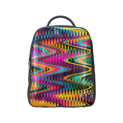 WAVES DISTORTION chevrons multicolored Popular Backpack (Model 1622)