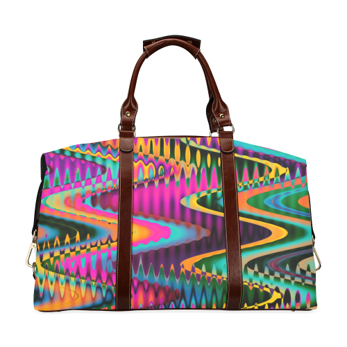 WAVES DISTORTION chevrons multicolored Classic Travel Bag (Model 1643)