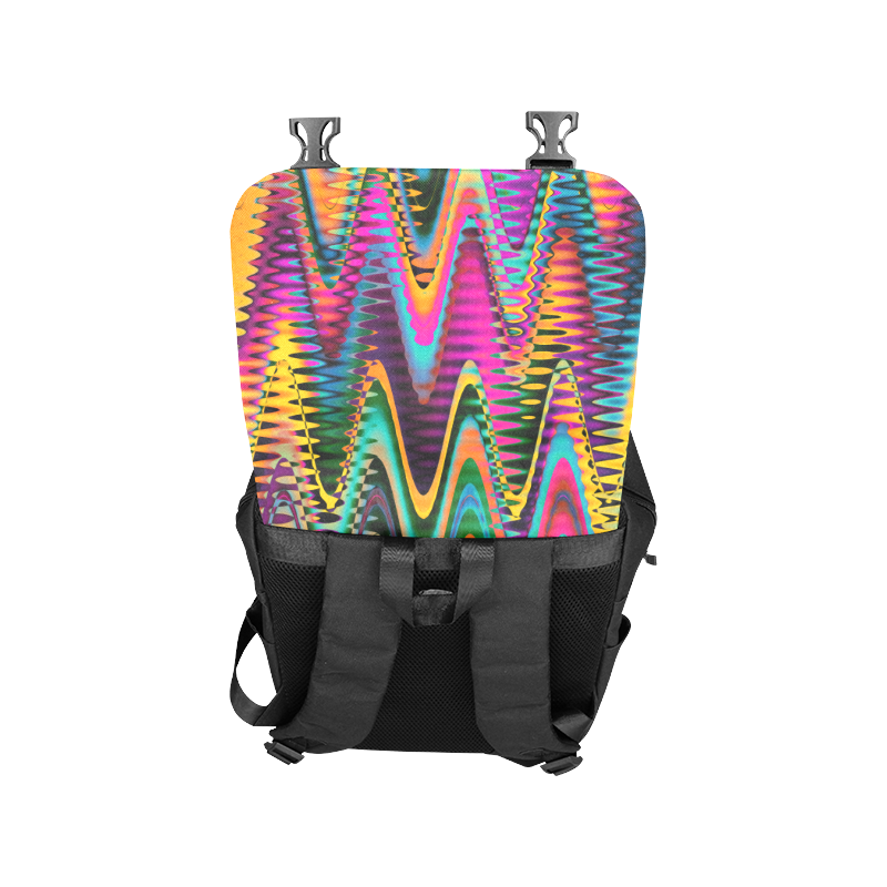 WAVES DISTORTION chevrons multicolored Casual Shoulders Backpack (Model 1623)