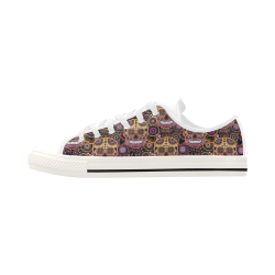 candy sugar skull Aquila Microfiber Leather Women's Shoes (Model 028)