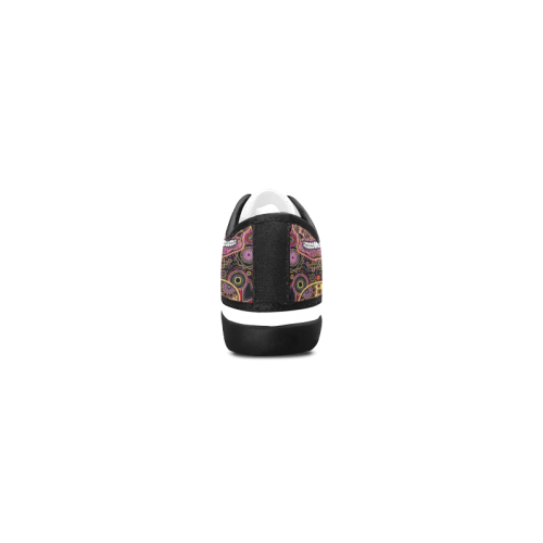 candy sugar skull Women's Canvas Zipper Shoes (Model 001)