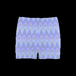 Cool Blues and Chevrons Briseis Skinny Shorts (Model L04)