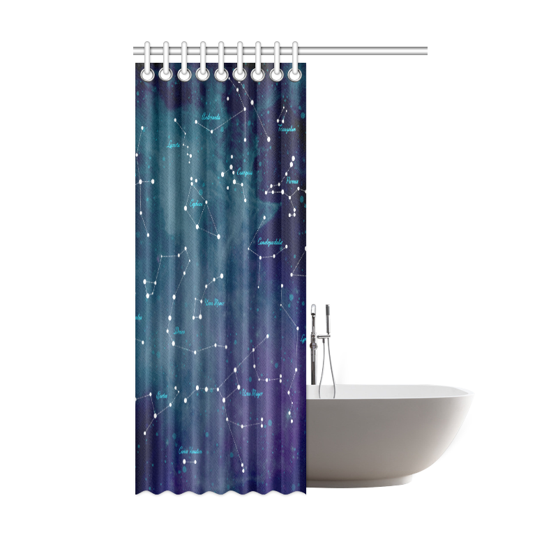 "Constellations Shower Curtain 48""x72"""