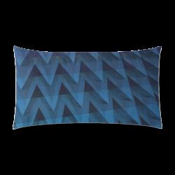 "3-D Chevrons (Slate Blue) Rectangle Pillow Case 20""x36""(Twin Sides)"