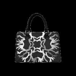 Snowflake Dark Art Boston Handbag (Model 1621)