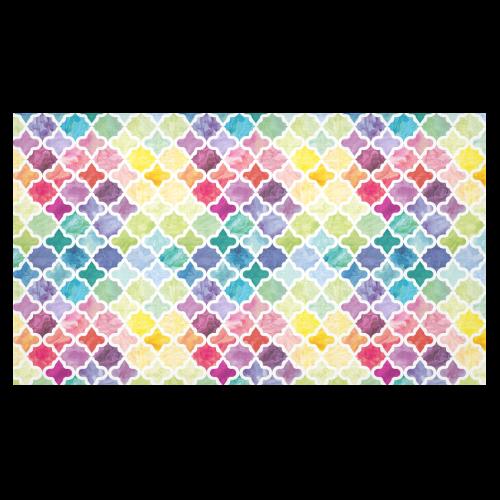 "watercolor pattern Cotton Linen Tablecloth 60""x 104"""