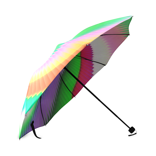 Colorful Spiral Dragon Scales Foldable Umbrella (Model U01)