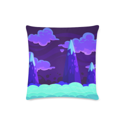 "Spooky Mountain Custom Zippered Pillow Case 16""x16""(Twin Sides)"