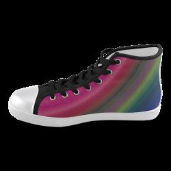 Die Kreis Bogen Women's High Top Canvas Shoes (Model 002)