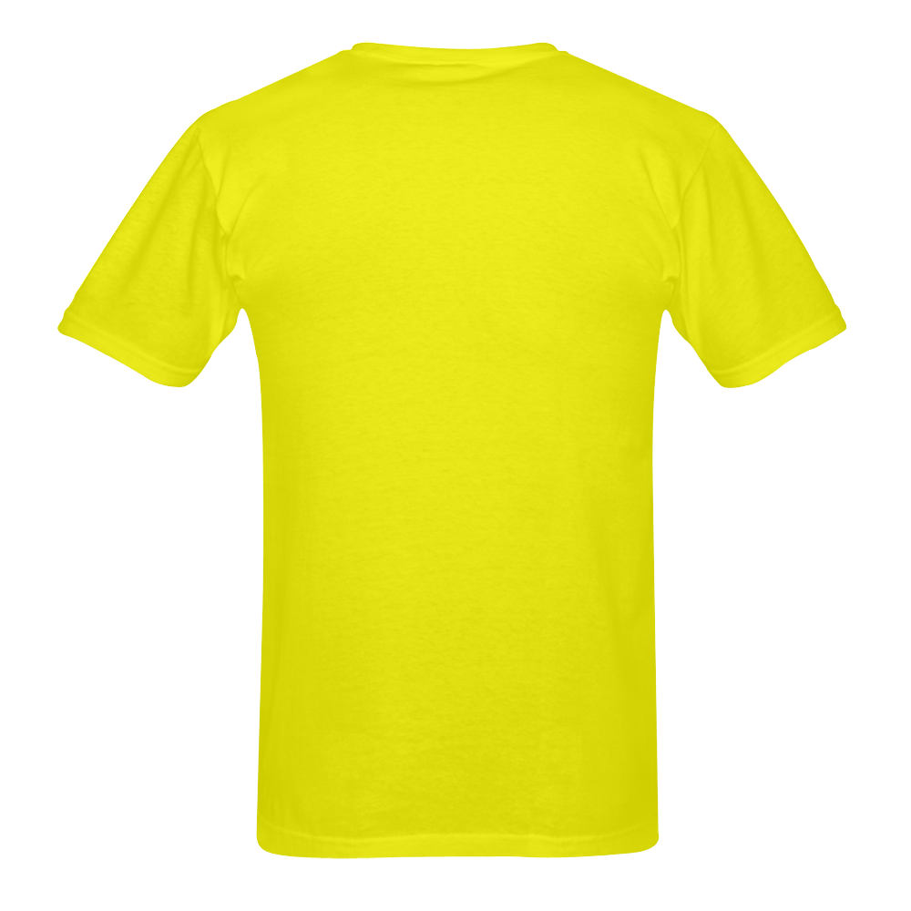 Geeks & freakes on yellow t-shirt Men's T-Shirt in USA Size (Two Sides Printing)
