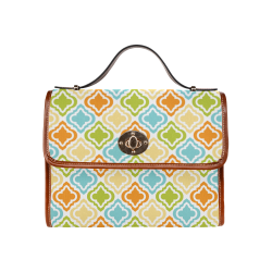 Colorful Tile Waterproof Canvas Bag/All Over Print (Model 1641)