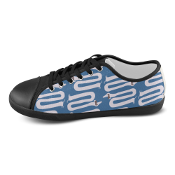 Long wiener dog with floppy ears   - dog and wiener Men's Canvas Shoes (Model 016)