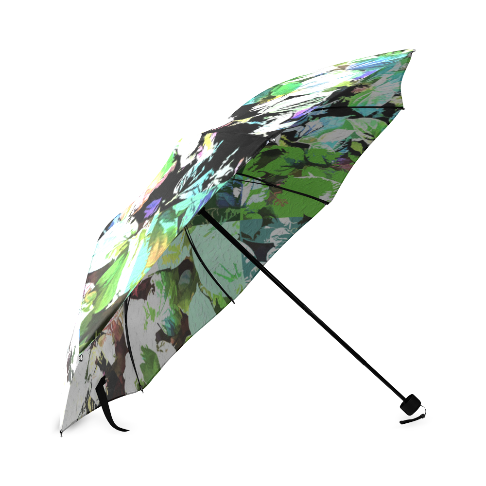 Foliage Patchwork #2 - Jera Nour Foldable Umbrella (Model U01)