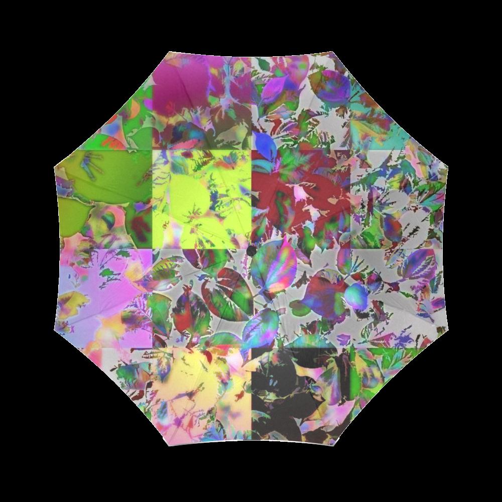 Foliage Patchwork #12 - Jera Nour Foldable Umbrella (Model U01)