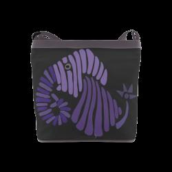 Funny Blue Elephant Abstract Crossbody Bags (Model 1613)