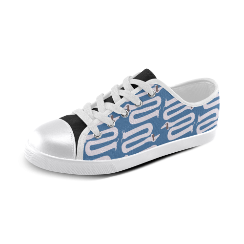 Long wiener dog with floppy ears   - dog and wiener Canvas Kid's Shoes (Model 016)