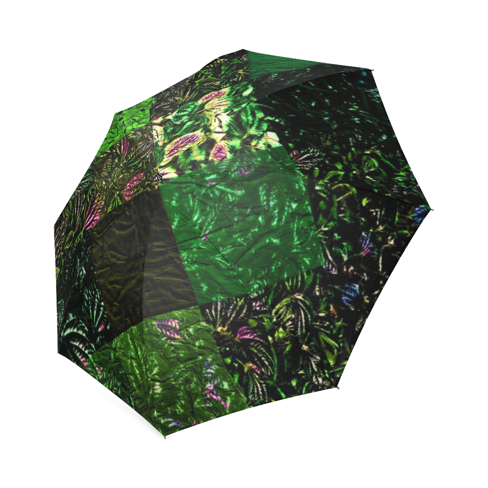 Foliage Patchwork #1 - Jera Nour Foldable Umbrella (Model U01)