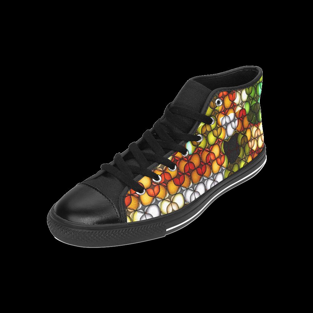 Blast-o-Blob #7B - Jera Nour Men's Classic High Top Canvas Shoes /Large Size (Model 017)