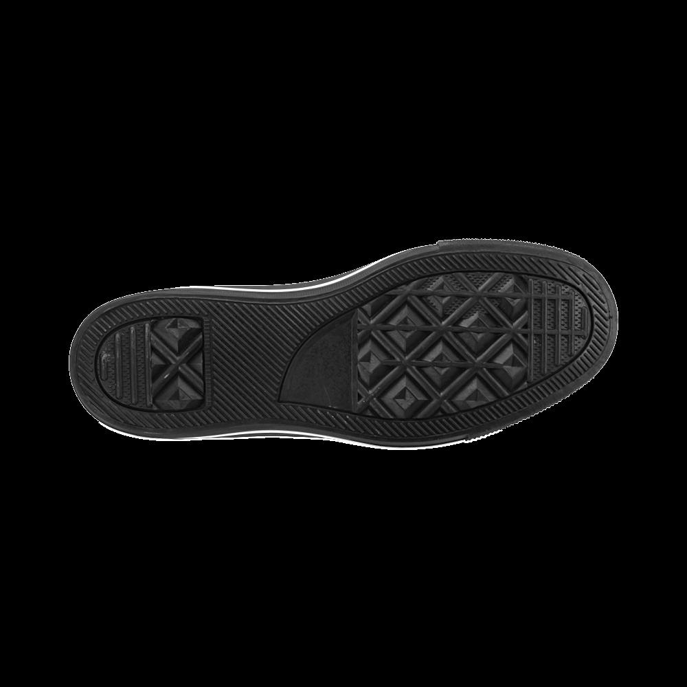 Blast-o-Blob #7A - Jera Nour Men's Classic High Top Canvas Shoes /Large Size (Model 017)