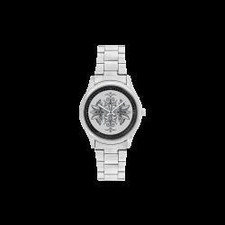 Stained-Glass-Seedpods-Shark-Skin-by-Aleta Men's Stainless Steel Watch(Model 104)