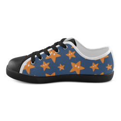 Cute starfish   - cute and sea Canvas Kid's Shoes (Model 016)