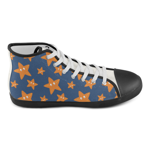 Cute starfish   - cute and sea High Top Canvas Kid's Shoes (Model 002)