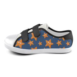 Cute starfish   - cute and sea Velcro Canvas Kid's Shoes (Model 008)