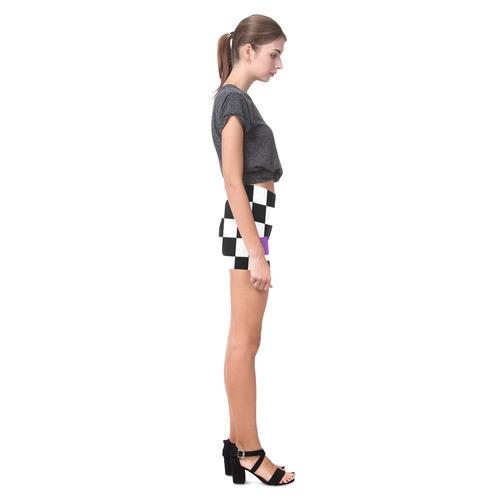 Dropout Lilac Black and White Check Briseis Skinny Shorts (Model L04)