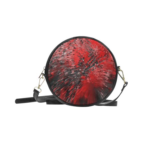 Explosion Red by Artdream Round Sling Bag (Model 1647)