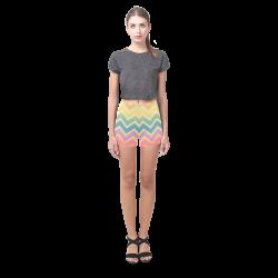 Summer-color Chevron Briseis Skinny Shorts (Model L04)