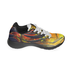 Fire Flames (Self paint) by Nico Bielow Men's Running Shoes (Model 020)