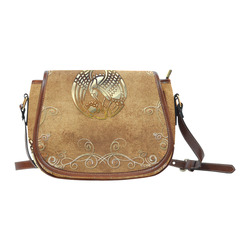 Wonderful bird, tribal design Saddle Bag/Small (Model 1649) Full Customization