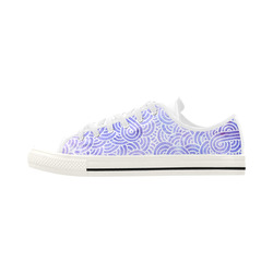 Lavender and white swirls doodles Aquila Microfiber Leather Women's Shoes (Model 028)