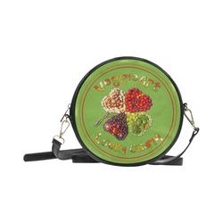 VeggieArt Lucky Charm Clover Round Sling Bag (Model 1647)