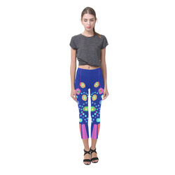 Dotty aboriginal pattern design Capri Legging (Model L02)
