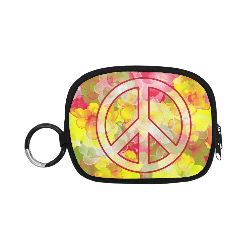 Flower Power Peace Coin Purse (Model 1605)