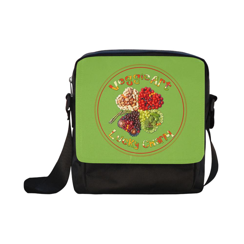 VeggieArt Lucky Charm Clover Crossbody Nylon Bags (Model 1633)