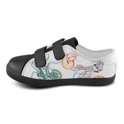 ammonites velcro canvas kid's shoes Velcro Canvas Kid's Shoes (Model 008)