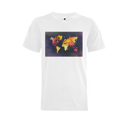 world map 31 Men's V-Neck T-shirt  Big Size(USA Size) (Model T10)